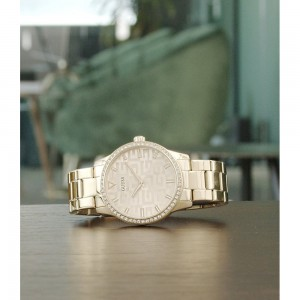 [Official Warranty] Guess GW0292L2 Women's Gold Tone Case Gold Dial Gold Stainless Steel Strap Watch (watch for women / jam tangan perumpuan / guess watch for women / guess watch / women watch)