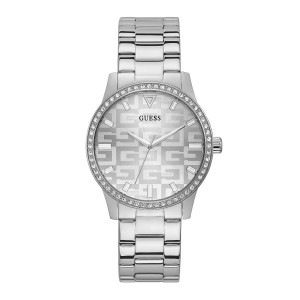 [Official Warranty] Guess GW0292L1 Women's Silver Tone Case Silver Dial Silver Stainless Steel Strap Watch (watch for women / jam tangan perumpuan / guess watch for women / guess watch / women watch)