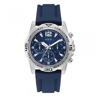 [Official Warranty] Guess GW0211G1 Men's Commander Multifunction Quartz Blue Dial Blue Silicone Strap Watch (watch for men / jam tangan lelaki / guess watch for men / guess watch / men watch)