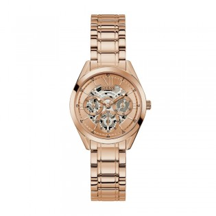 [Official Warranty] Guess GW0253L3 Women's Rose Gold Tone Case Rose Gold Dial Rose Gold Stainless Steel Starp Watch (watch for women / jam tangan perumpuan / guess watch for women / guess watch / women watch)