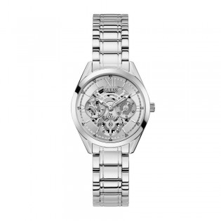 [Official Warranty] Guess GW0253L1 Women's Silver Tone Case Silver Dial Silver Stainless Steel Starp Watch (watch for women / jam tangan perumpuan / guess watch for women / guess watch / women watch)