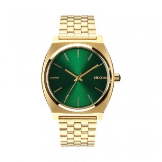 [Official Warranty] Nixon A0451919 Men's Time Teller Gold Green Sunray Stainless Steel Watch (watch for men / jam tangan lelaki / nixon watch for men  / men watch)