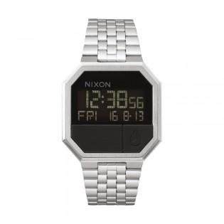[Official Warranty] Nixon A158000 Men's Re-Run Black Dial Stainless Steel Watch (watch for men / jam tangan lelaki / nixon watch for men  / men watch)