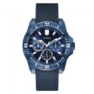 [Official Warranty] Guess GW0054G2 Men's Guardian Multifunction Quartz 46mm Blue Leather Strap Watch (watch for men / jam tangan lelaki / guess watch for men / guess watch / men watch)