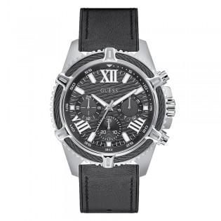 [Official Warranty] Guess GW0053G1 Men's Chornograph Quartz 48mm Black Dial Black Leather Strap Watch (watch for men / jam tangan lelaki / guess watch for men / guess watch / men watch)