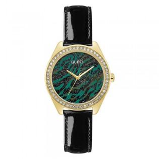 [Official Warranty] Guess GW0110L1 Women's Ziggy Quartz 37mm Black Leather Strap Watch (watch for women / jam tangan perumpuan / guess watch for women / guess watch / women watch)