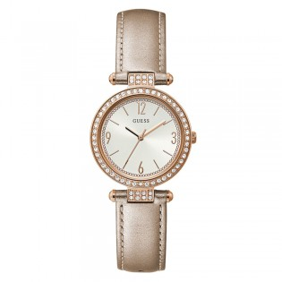 [Official Warranty] Guess GW0116L1 Women's Terraza Quartz 32mm Leather Strap Watch (watch for women / jam tangan perumpuan / guess watch for women / guess watch / women watch)