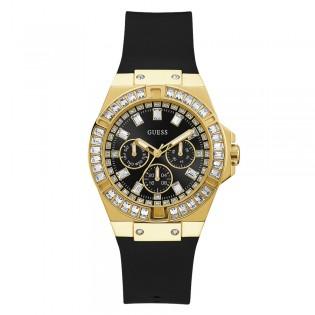 [Official Warranty] Guess GW0118L1 Women's Chronograph Quartz 39mm Black Dial Black Silicone Strap Watch (watch for women / jam tangan perumpuan / guess watch for women / guess watch / women watch)