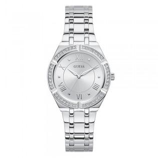 [Official Warranty] Guess GW0033L1 Women's Analog Quartz 36mm Silver Dial Silver Stainless Steel Strap Watch (watch for women / jam tangan perumpuan / guess watch for women / guess watch / women watch)