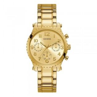 [Official Warranty] Guess GW0035L2 Women's Chronograph Quartz 39mm Gold Dial Gold Stainless Steel Strap Watch (watch for women / jam tangan perumpuan / guess watch for women / guess watch / women watch)