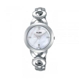 [Official Warranty] Alba AH7H03X AH7H03X1 Women's Analog Quartz Silver Stainless Steel Strap Watch (watch for women / jam tangan perumpuan / alba watch for women / alba watch / women watch)
