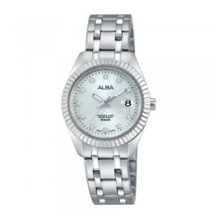 [Official Warranty] Alba AH7G09X AH7G09X1 Women's Analog Quartz Silver Stainless Steel Strap Watch (watch for women / jam tangan perumpuan / alba watch for women / alba watch / women watch)