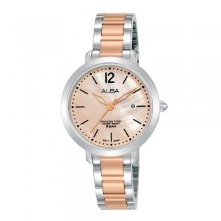 [Official Warranty] Alba AH7S95X AH7S95X1 Women's Analog Quartz Rose Gold Silver Stainless Steel Strap Watch (watch for women / jam tangan perumpuan / alba watch for women / alba watch / women watch)
