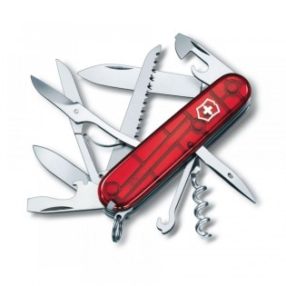 Victorinox Huntsman Translucent Red Multitool 1.3713.TB1