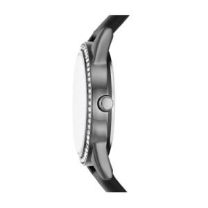 [100% Original] Skechers SR9063 Women's Analog Quartz Black Leather Strap Watch Gift Set