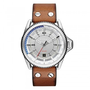 Diesel DZ1715 Men's Rollcage  Quartz Brown Leather Watch