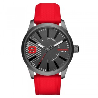 Diesel DZ1806 Men's Rasp Quartz Red Silicone Watch