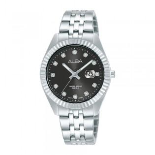 [Official Warranty] Alba AH7T53X AH7T53X1 Women's Analog Quartz Black Dial Silver Stainless Steel Strap Watch (watch for women / jam tangan perumpuan / alba watch for women / alba watch / women watch)