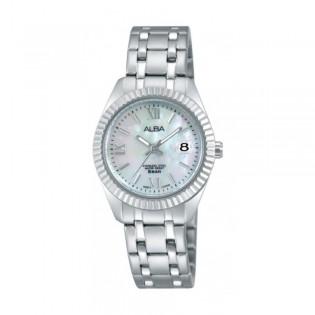 [Official Warranty] Alba AH7G11X AH7G11X1 Women's Analog Quartz Silver Stainless Steel Strap Watch (watch for women / jam tangan perumpuan / alba watch for women / alba watch / women watch)