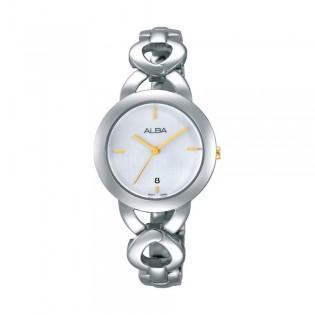 [Official Warranty] Alba AH7G97X AH7G97X1 Women's Analog Quartz Silver Stainless Steel Strap Watch (watch for women / jam tangan perumpuan / alba watch for women / alba watch / women watch)