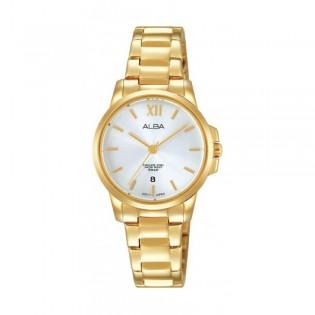 [Official Warranty] Alba AH7M02X AH7M02X1 Women's Analog Quartz Gold Stainless Steel Strap Watch (watch for women / jam tangan perumpuan / alba watch for women / alba watch / women watch)