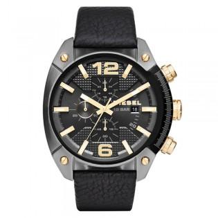 Diesel DZ4375 Men's Overflow Chronograph Quartz Black Leather Watch