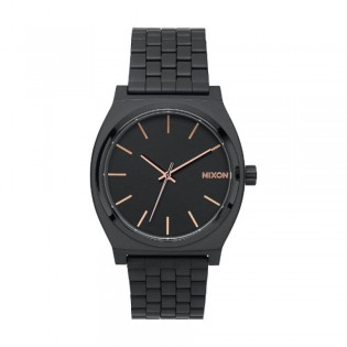 [Official Warranty] Nixon A045957 Men's Time Teller All Black Stainless Steel Strap Wacth (watch for men / jam tangan lelaki / nixon watch for men  / men watch)