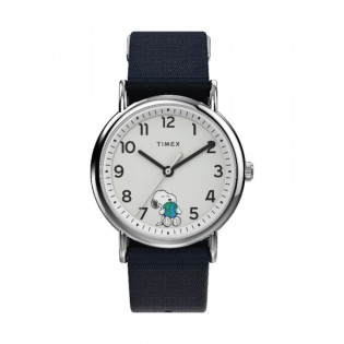 [Official Warranty] Timex TW2V07000 Men's Weekender x Peanuts Take Care 38mm Fabric Strap Watch (watch for men / jam tangan lelaki / timex watch for men / timex watch / men watch)