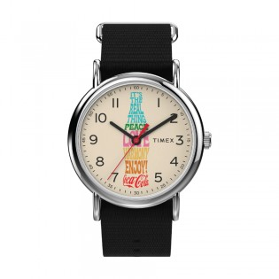 [Official Warranty] Timex TW2V29800 Men's Weekender x Coca Cola 38mm Black Nylon Strap Watch (watch for men / jam tangan lelaki / timex watch for men / timex watch / men watch)