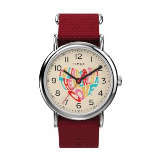 [Official Warranty] Timex TW2V29900 Unisex's Weekender x Coca Cola 38mm Red Nylon Strap Watch (watch for unisex / jam tangan unisex / timex watch for unisex / timex watch / unisex watch)