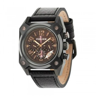 [Official Warranty] Police PL14691JSB/03 Men's Hellcat Chronograph Brown leather Strap Watch (watch for man / jam tangan lelaki / police watch for men / police watch / men watch / watch for men)