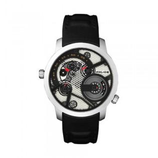 [Official Warranty] Police PL15471JS/61 Men's Kingsbridge Dual time Black Leather Strap Watch (watch for man / jam tangan lelaki / police watch for men / police watch / men watch / watch for men)