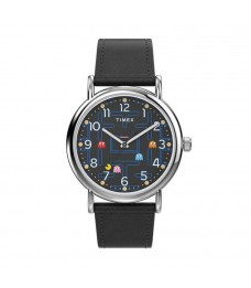[Official Warranty] Timex TW2V06100 Men's Timex Weekender x PAC-MAN™ 38mm Leather Strap Watch (watch for men / jam tangan lelaki / timex watch for men / timex watch / men watch)