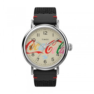 [Official Warranty] Timex TW2V26000 Men's Standard x Coca-Cola® Unity Collection 40mm Fabric Strap Watch (watch for men / jam tangan lelaki / timex watch for men / timex watch / men watch)