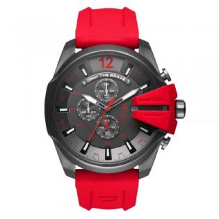 Diesel DZ4427 Men's Mega Chief Quartz Red Silicone Strap Watch