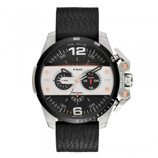 Diesel DZ4361 Men's Ironside Chronograph Quartz Black Leather Watch