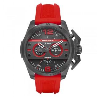 Diesel DZ4388 Men's Ironside Quartz Red Silicone Strap Watch