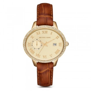 Michael Kors MK2428 Women's Whitley Quartz Brown Multifuntion Leather Watch