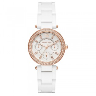 Michael Kors MK6436 Women's Mini Parker Multifunction Ceramic Watch