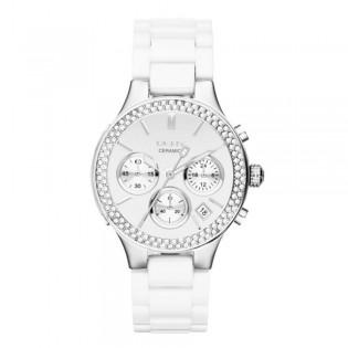 DKNY NY8894 Women's Silver-Tone Glitz Chronograph White Quartz Watch