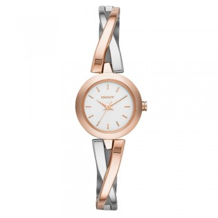 DKNY NY2172 Women's Crosswalk Rose Gold-Tone and Silver-Tone Quartz Watch