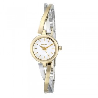 DKNY NY2171 Women's Crosswalk Gold-Tone and Silver-Tone Quartz Watch