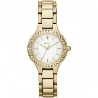DKNY NY2221 Women's Gold Stainless Steel Chambers Quartz Watch