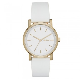 DKNY NY2340 Women's Soho White Leather Quartz Watch