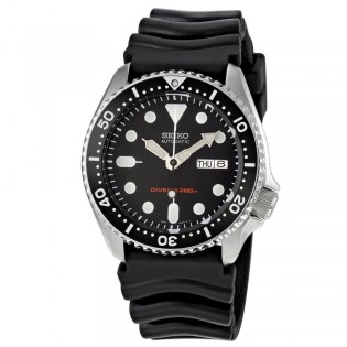 Seiko SKX007K1 Men's Diver Automatic 200m Silicone Strap Watch