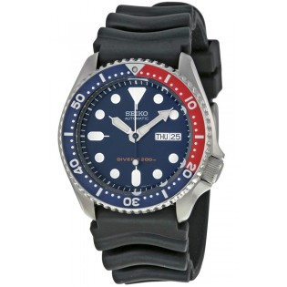 Seiko SKX009K1 Men's Diver Automatic 200m Silicone Strap Watch