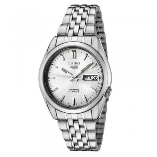 Seiko SNK355K1 Men's 5 Automatic 21 Jewel Steel Watch