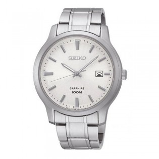 Seiko SGEH39P1 Men's Sapphire Crystal Quartz Steel Watch