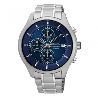 Seiko SKS537P1 Men's Neo Chronograph Steel Watch