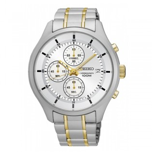 Seiko SKS541P1 Men's Chronograph 2 Toned Steel Watch